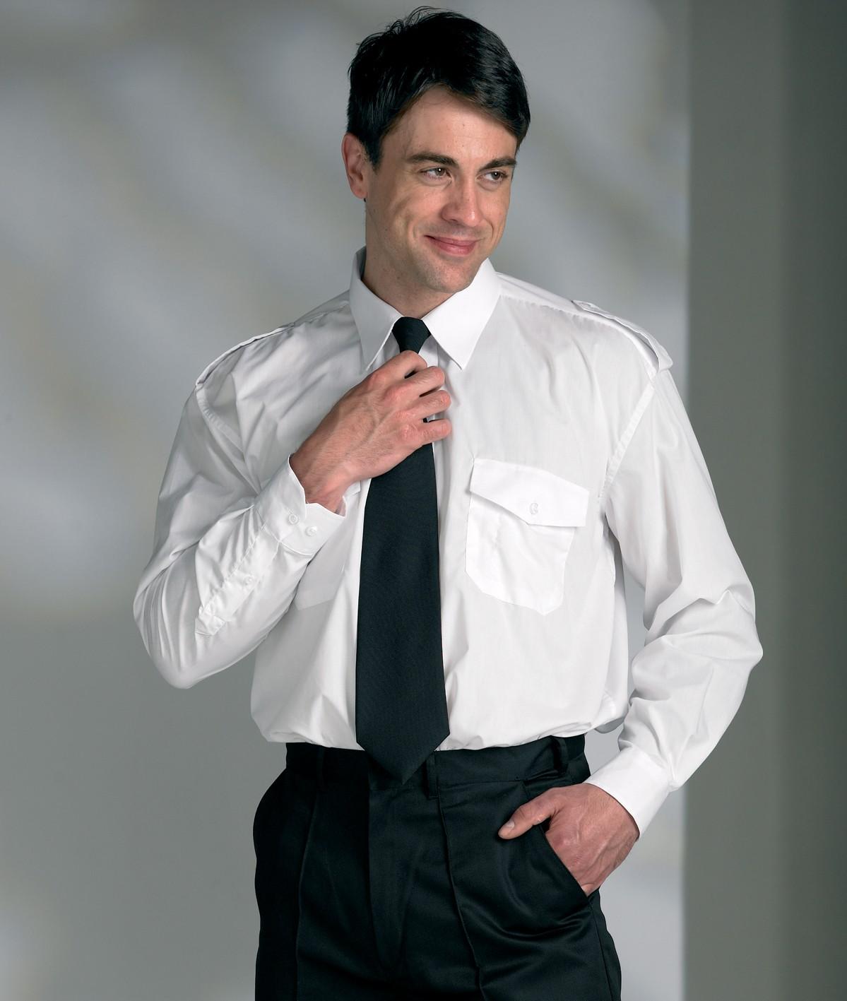 Male Pilot Shirt White